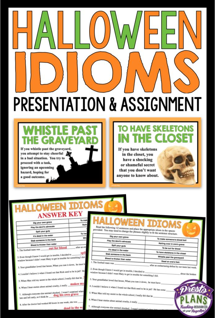 Halloween Idioms Presentation & Activity | Idioms Lessons
