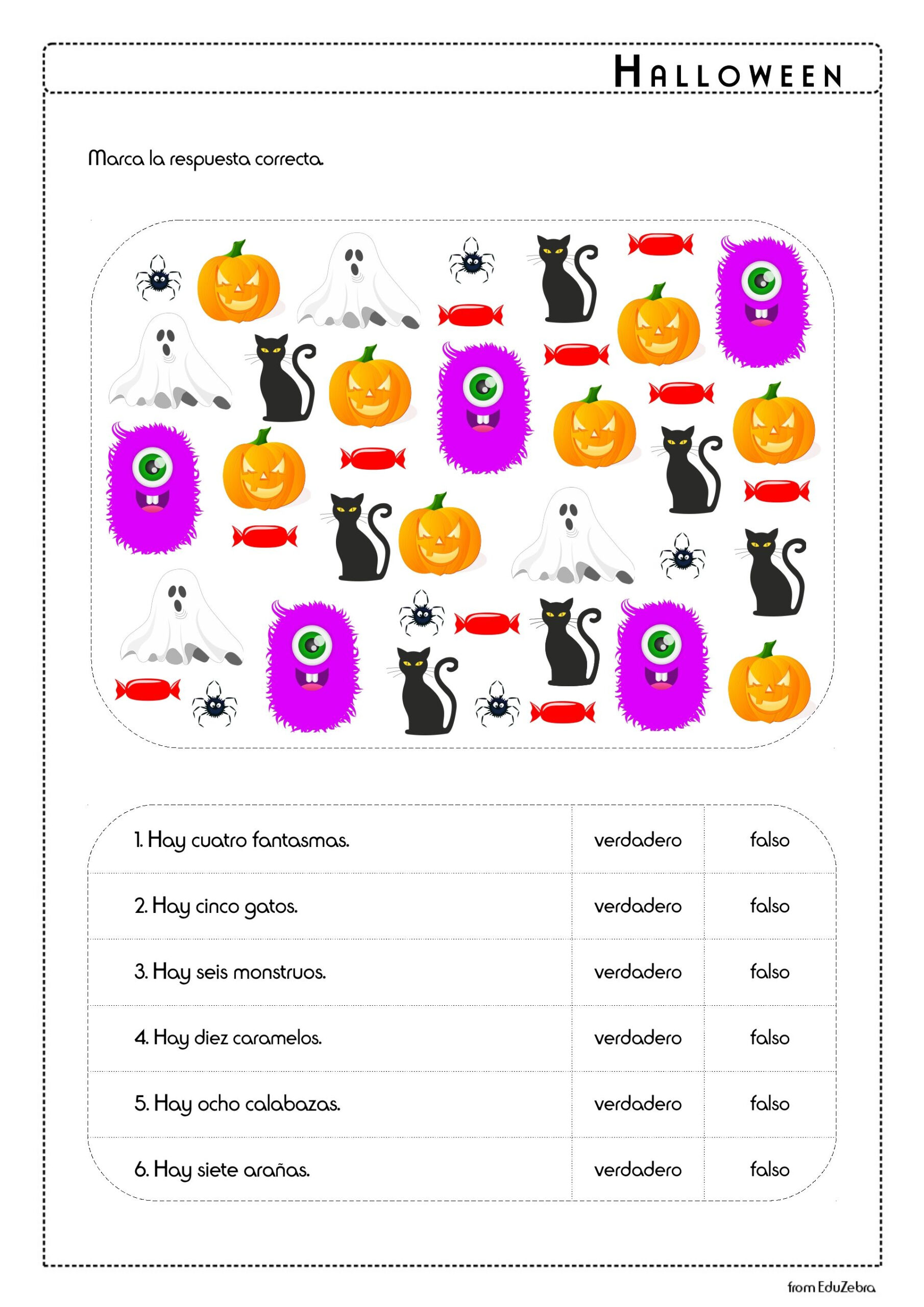 Halloween In Spanish, Spanish For Kids, Spanish For Children