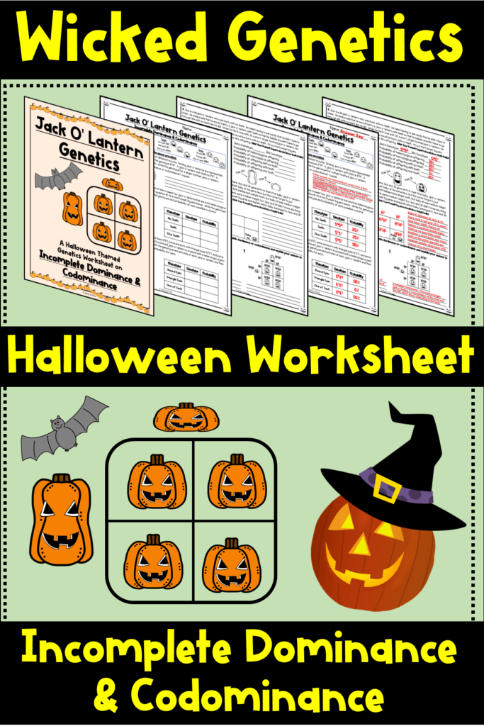 Halloween Incomplete Dominance & Codominance Practice
