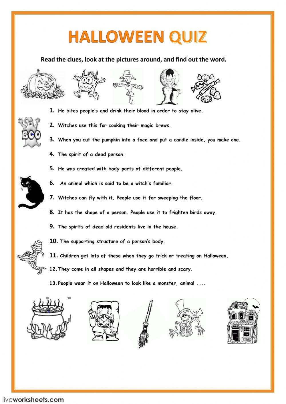 Halloween Interactive And Downloadable Worksheet. You Can Do