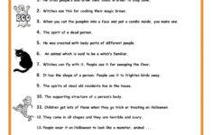 Halloween Grammar Worksheets Pdf