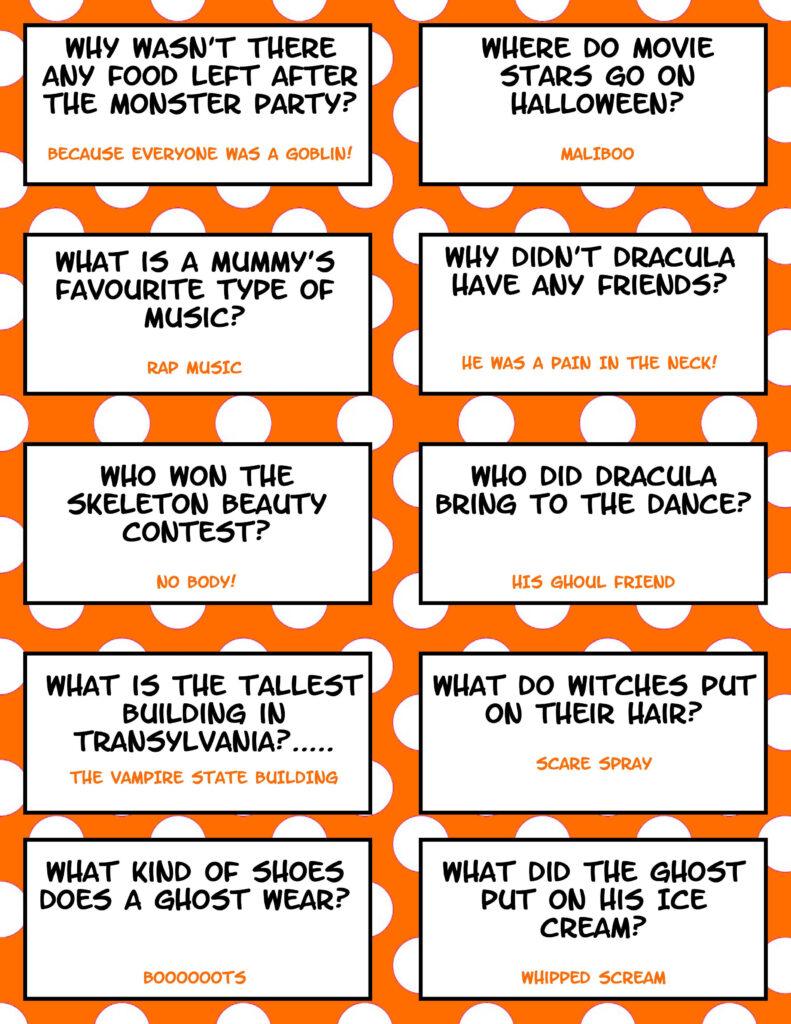 Halloween Jokes   Free Printable | Halloween Jokes