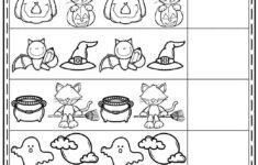 Halloween Pattern Worksheets For Preschool