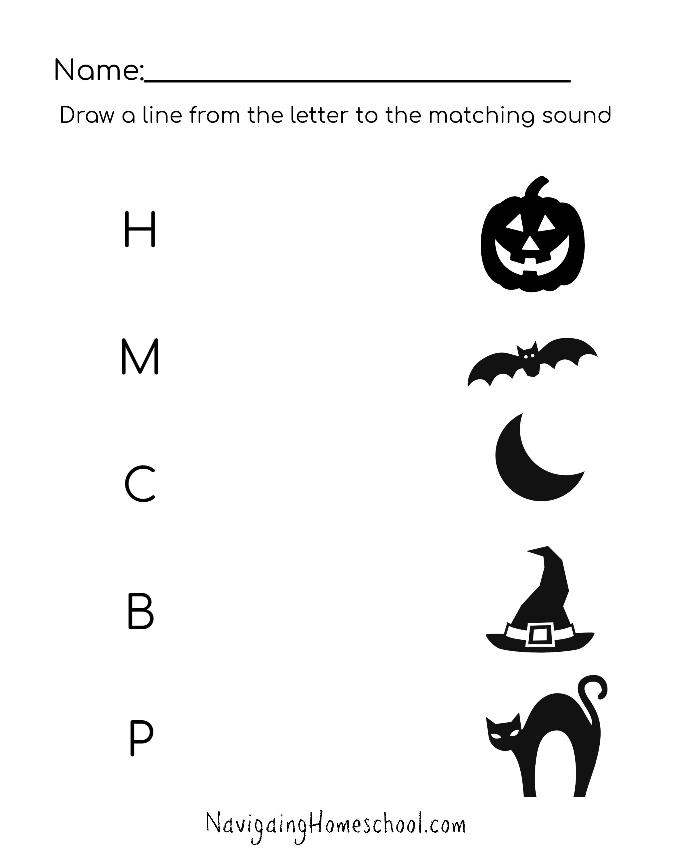 Halloween Letter Worksheet | Halloween Worksheets Preschool