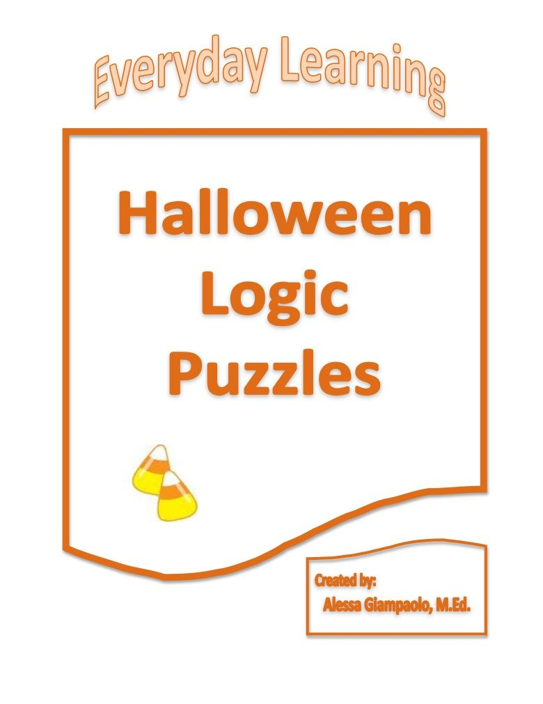 Halloween Logic Puzzles | Halloween Puzzles, Word Puzzles