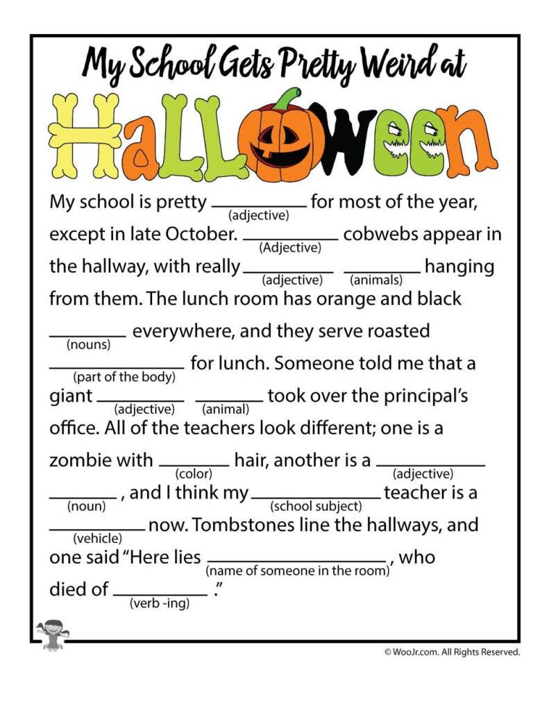 Halloween Mad Libs | Woo! Jr. Kids Activities | Halloween