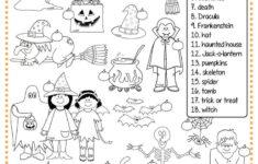 Esl Halloween Worksheets Kindergarten
