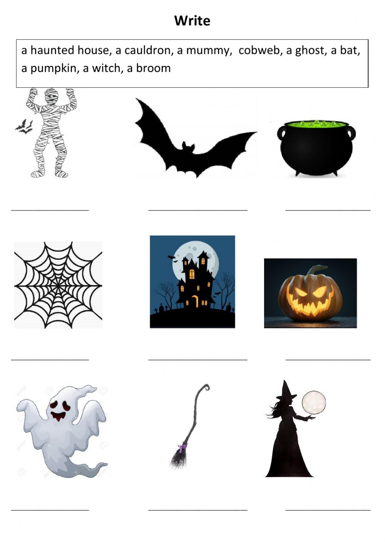 Halloween Matching Worksheet