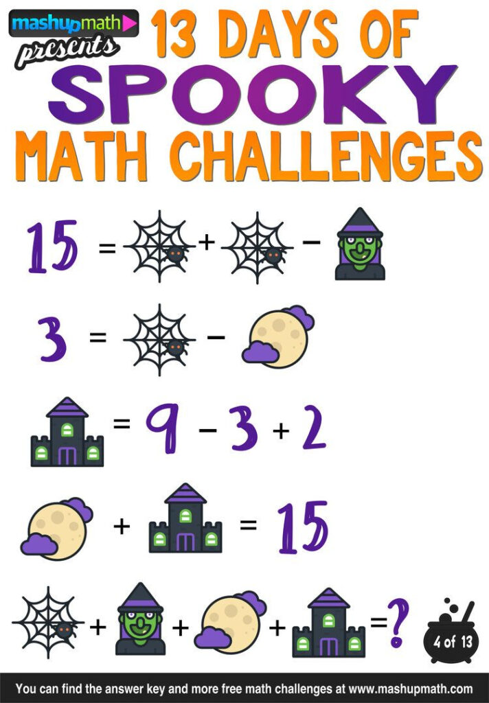 Halloween Math: 13 Days Of Spooky Math Challenges For Grades