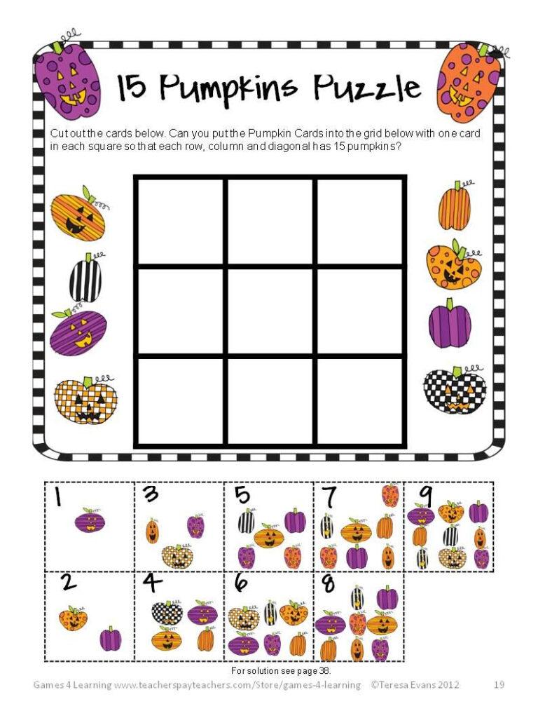Halloween Math Activities   Worksheets, Games, Brain Teasers