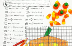 Free Printable Halloween Coordinate Graphing Pictures Worksheets