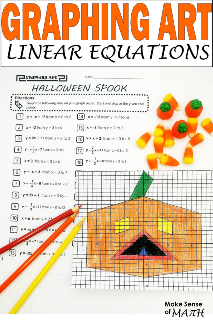 Halloween Math Activity Graphing Linear Equations Free