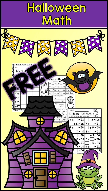 Halloween Math For Second Grade--Free Math--Missing Addends