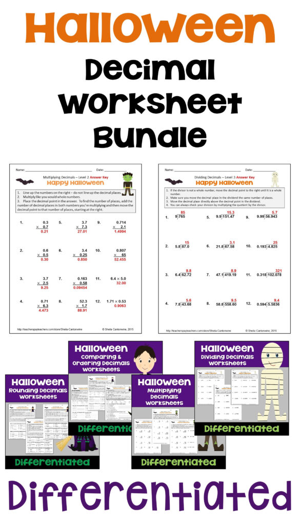 Halloween Math Is Fun For Kids With This Halloween Decimal