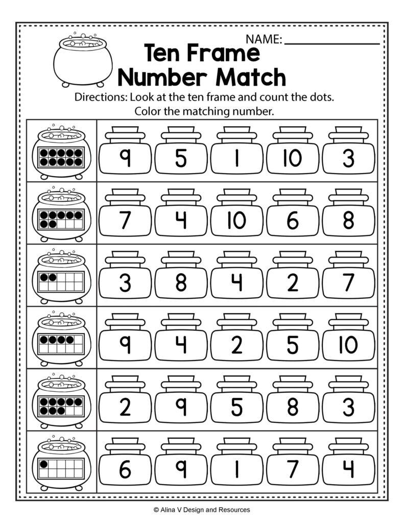 Halloween Math Literacy Activities For Kindergarten 1St