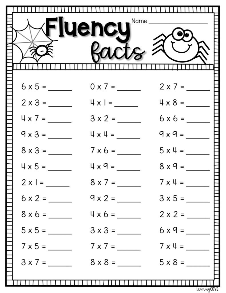 Halloween Math Multiplication Worksheets In 2020 | Math