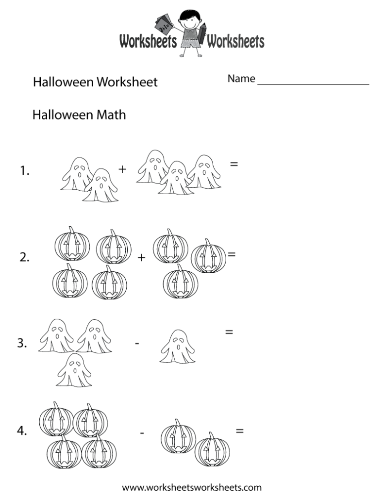 Halloween Math Worksheet   Free Printable Educational Worksheet