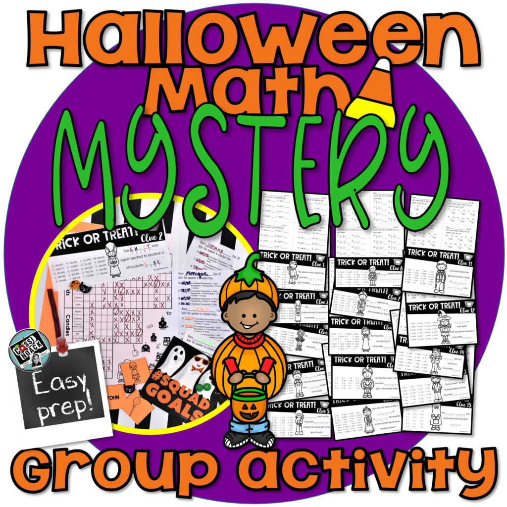 Halloween Math Worksheets For A Super Fun Mystery! Group Activity 4Th 5Th  Grade