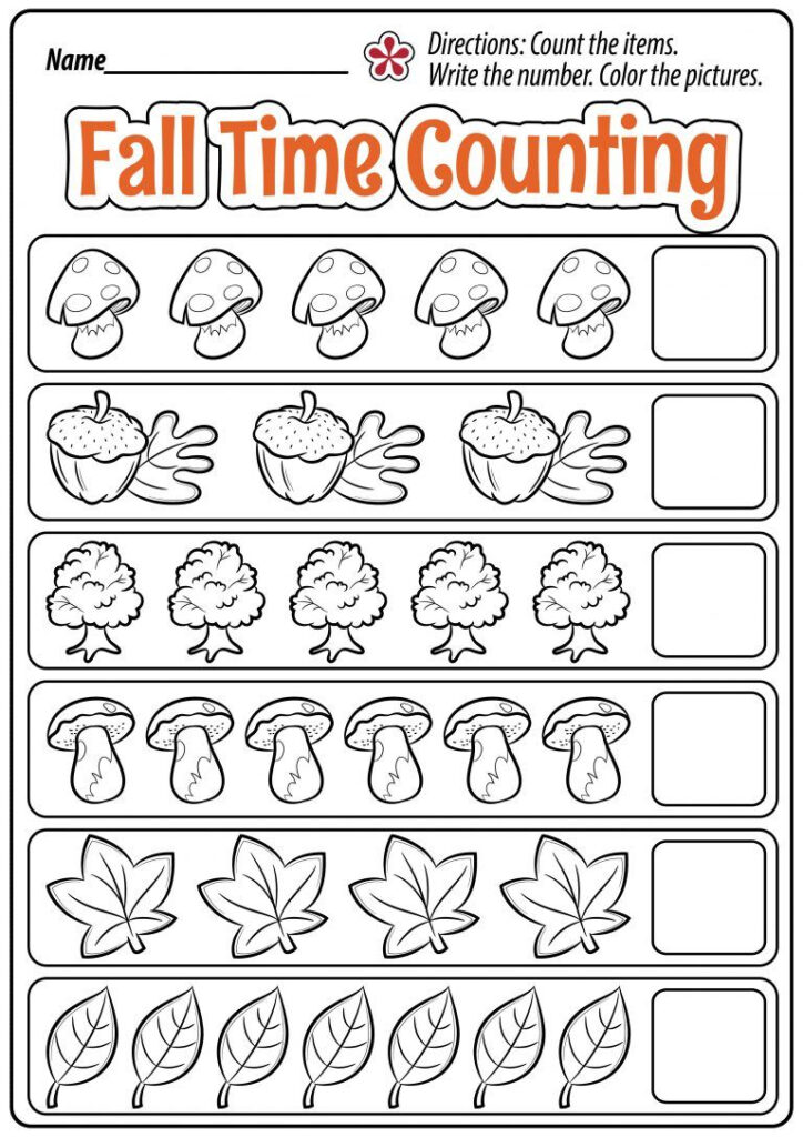 Halloween Math Worksheets For Preschool And Kindergarten