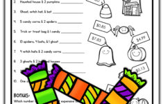Halloween Math Worksheets Fun 4Th Grade Diagramming