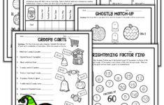Printable Halloween Math Worksheets For 4th Grade