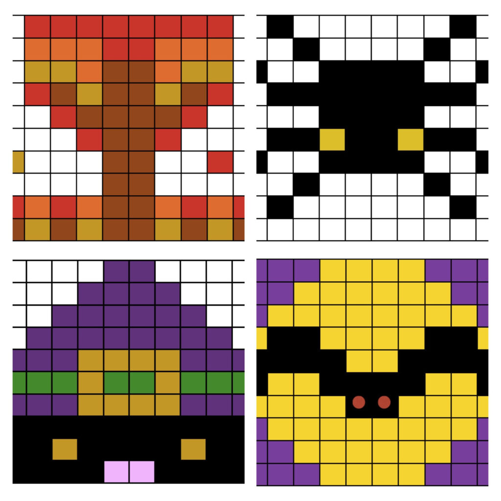 Halloween Math Worksheets, Mystery Picture Puzzles