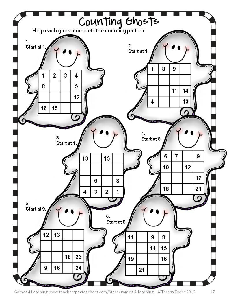 Halloween Math Worksheets To Download. Halloween Math
