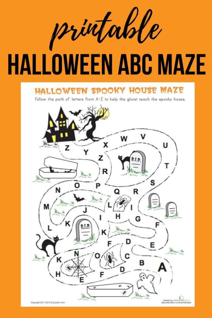 Halloween Maze   Worksheet   Education   Halloween