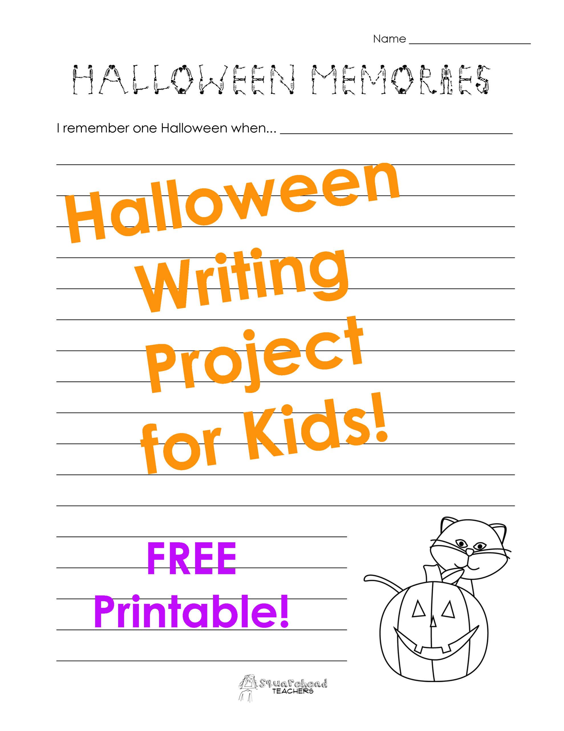 Halloween Memories Writing Project | Squarehead Teachers