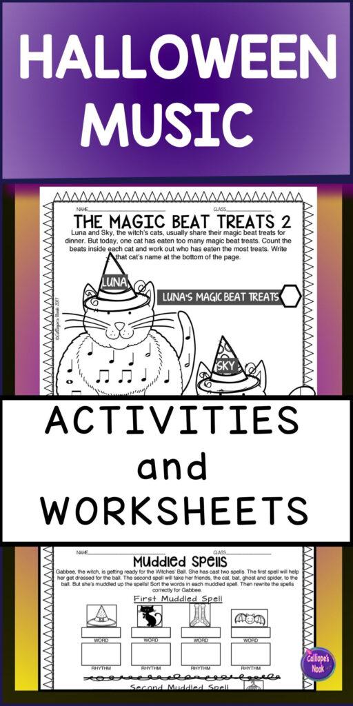 Halloween Music Activities Worksheets   Music Activities