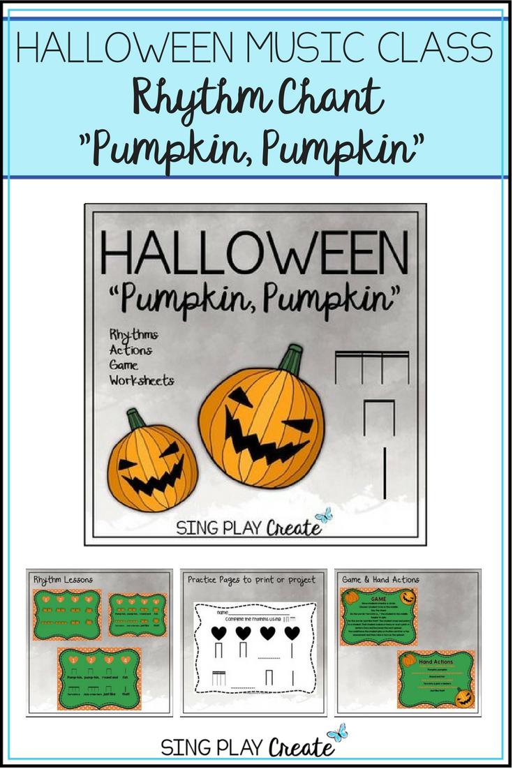 """Halloween Music Class Rhythm Chant """"pumpkin, Pumpkin"""