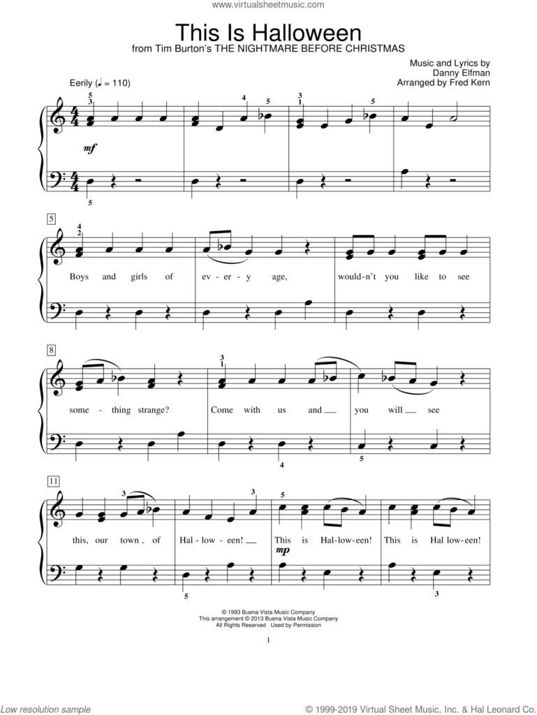 Halloween Music Piano Sheet   Best Music Sheet