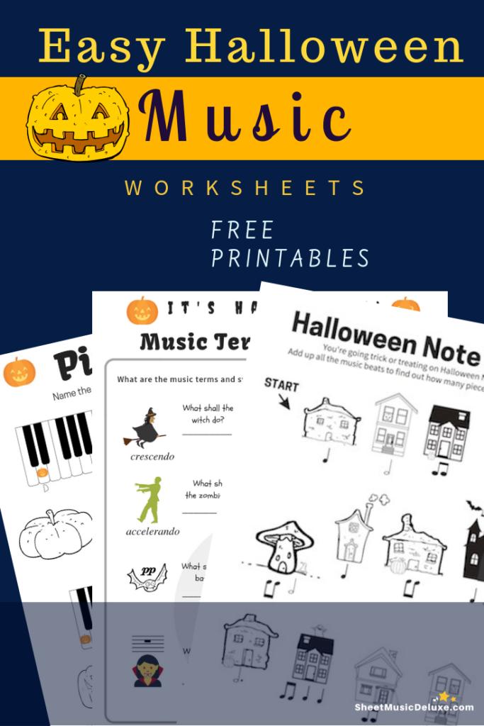 Halloween Music Worksheets Free | Halloween Music Worksheets