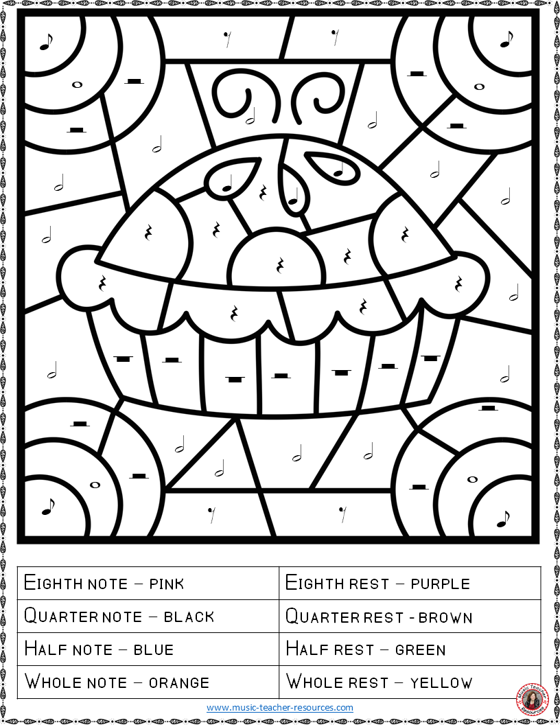 Halloween Musicng Worksheets For Kids Elementary Free Pdf