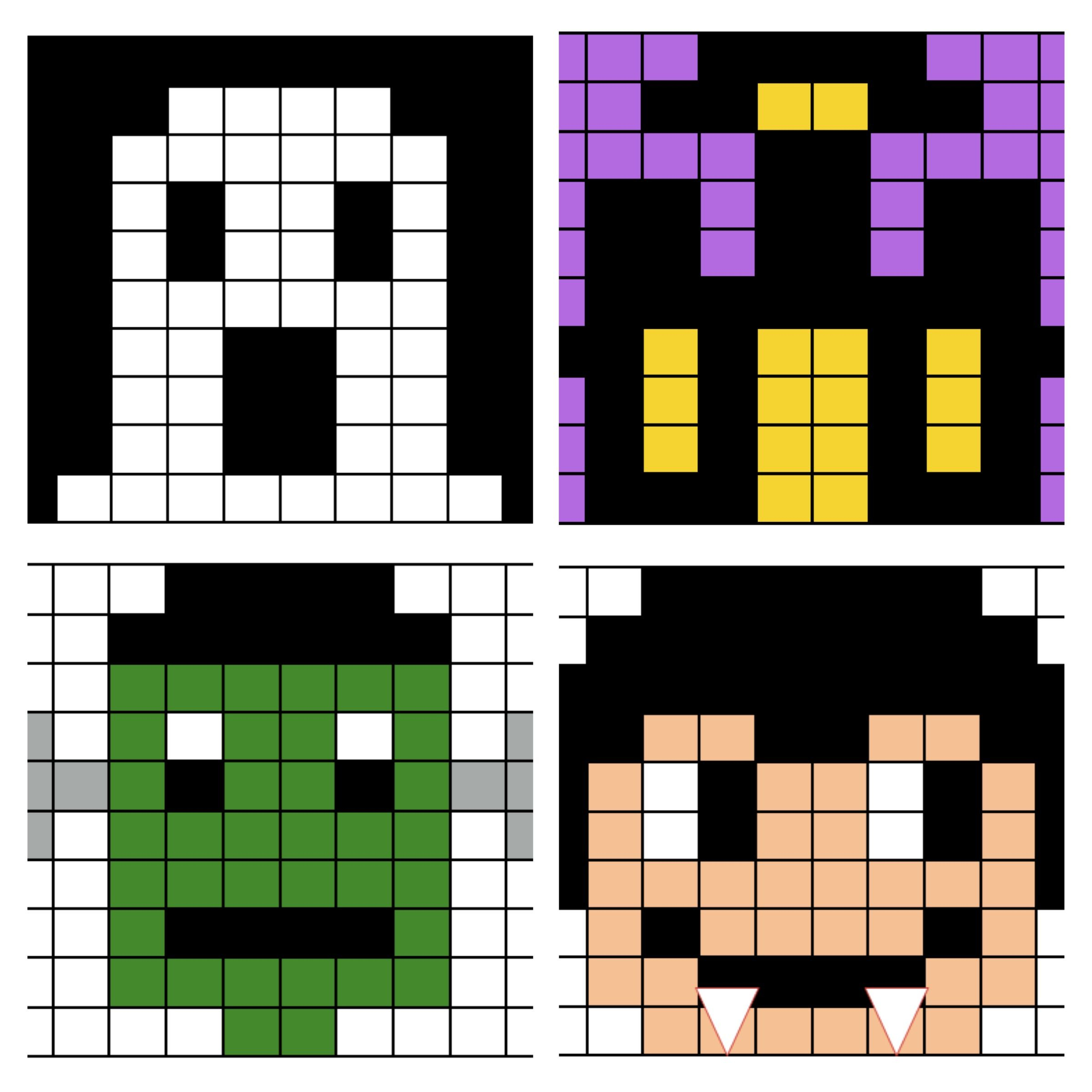 Halloween Mystery Puzzle Number Grid Coloring Activity