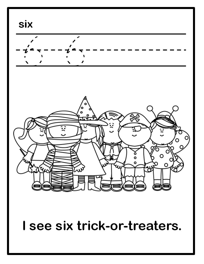 Halloween Number Book Worksheets Numbers 1-10 | Numbers 1 10