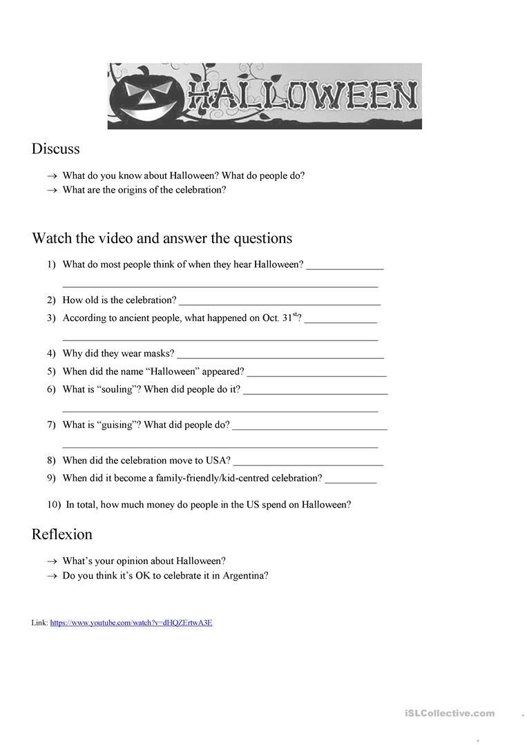 Halloween Origins - English Esl Worksheets For Distance