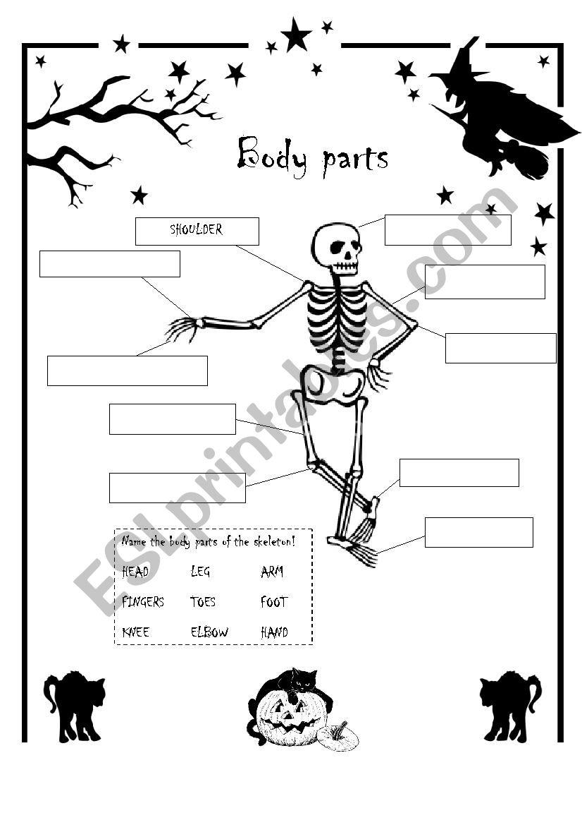 Halloween - Parts Of The Body - Esl Worksheetmimamaxima
