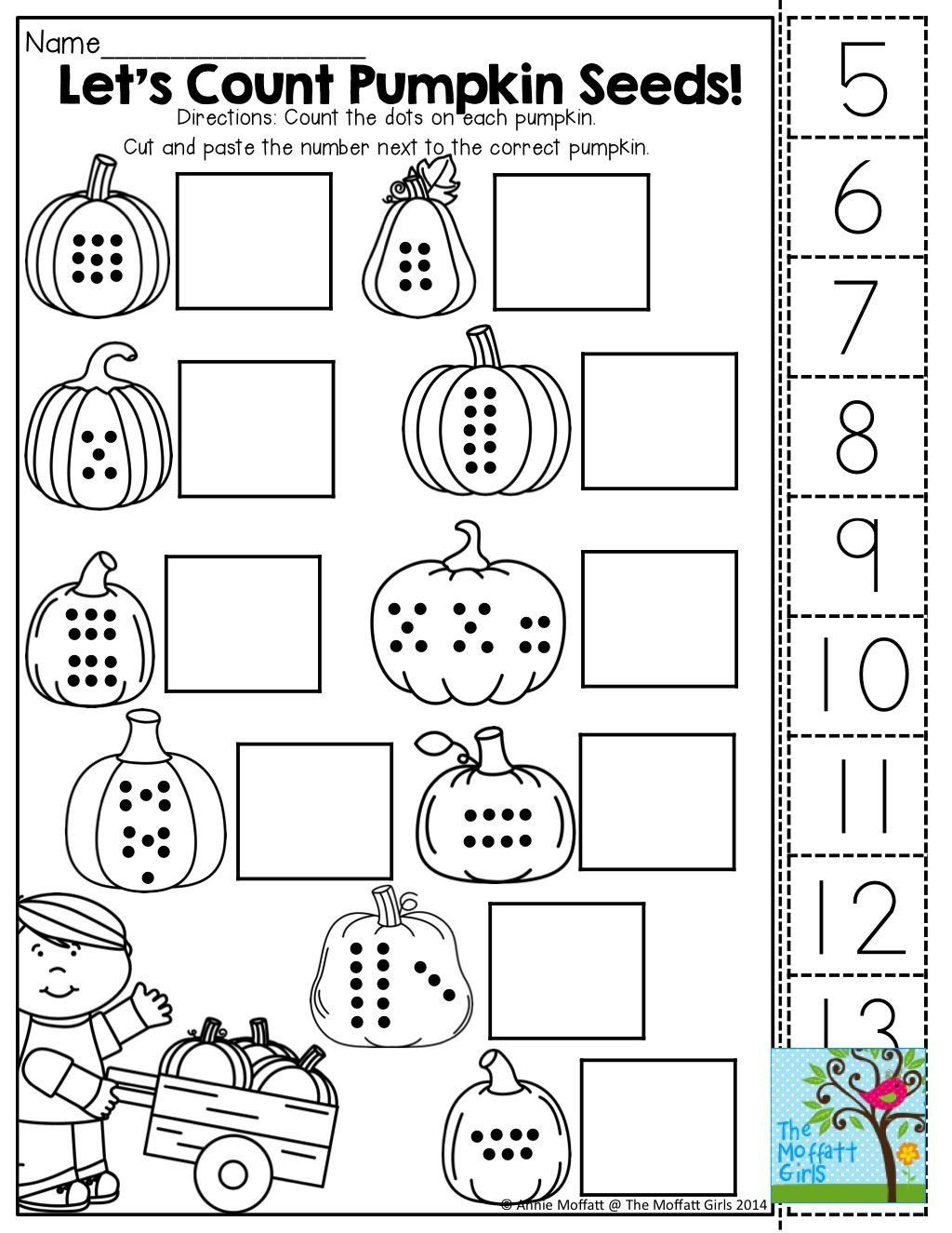 Halloween Pattern Worksheets For Kindergarten Fast Math