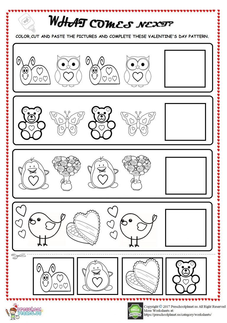 Halloween Pattern Worksheets Preschool Worksheet Greetings