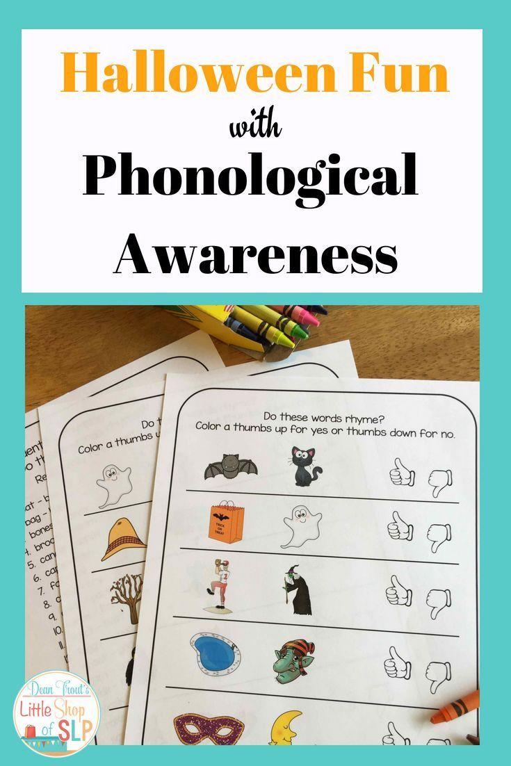 Halloween Phonological Awareness Activities   Speech Therapy