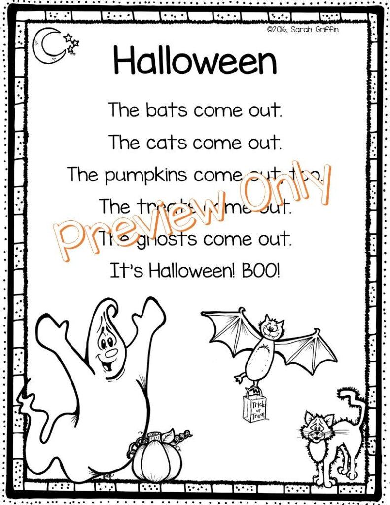 Halloween Poem   Halloween Poems, Halloween Poems For Kids