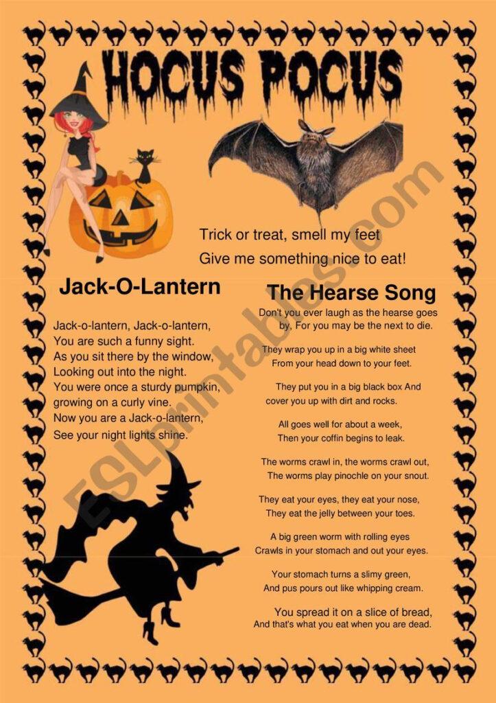 Halloween Poems   Esl Worksheetaisha77