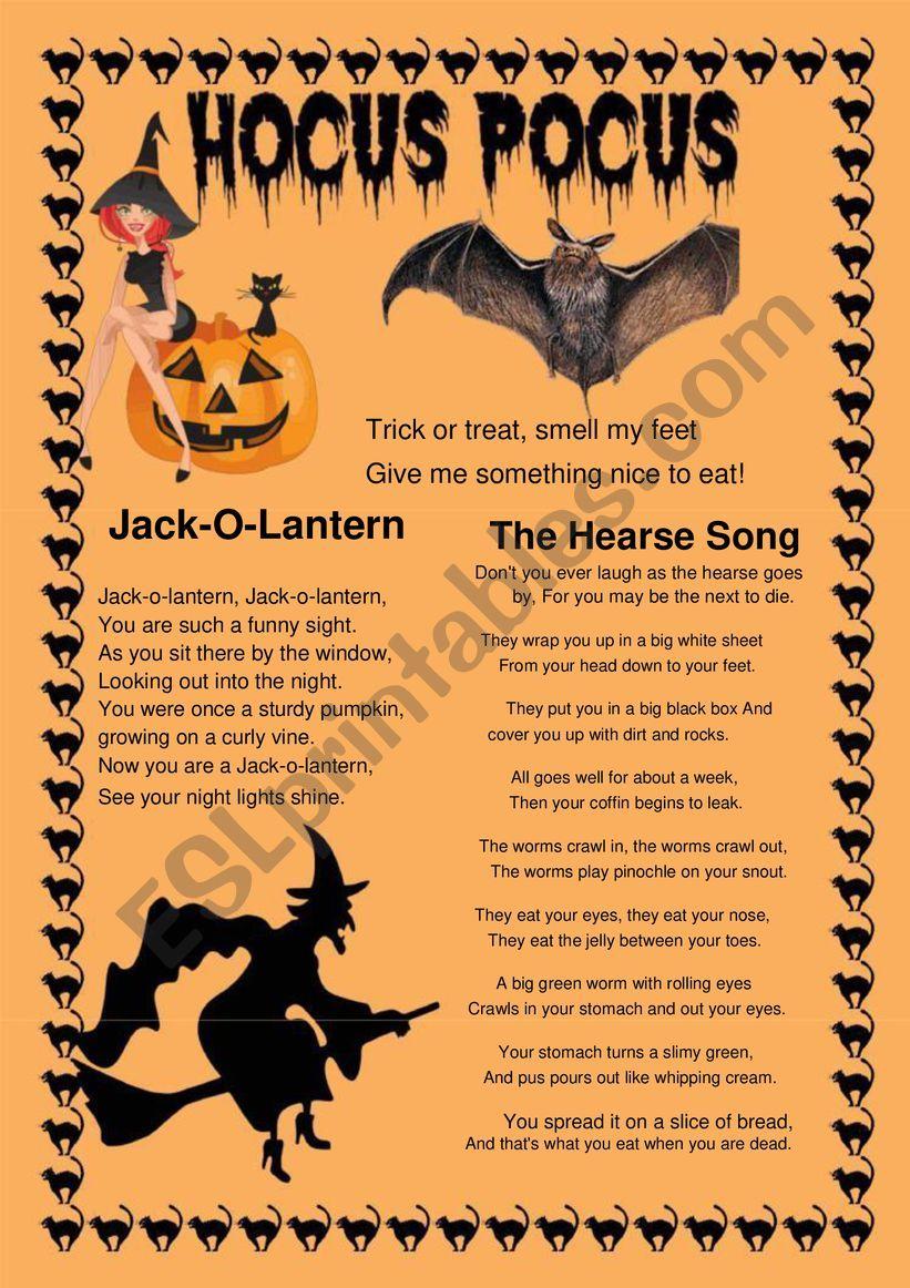 Halloween Poems - Esl Worksheetaisha77