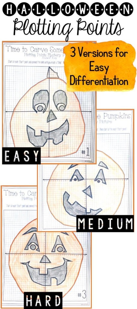 Halloween Pumpkin Carving Plotting Points   Mystery Picture