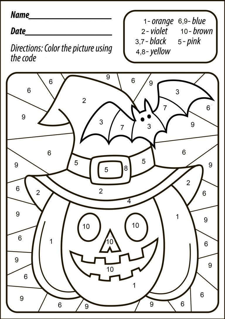 Halloween Pumpkin Color | Halloween Worksheets, Halloween
