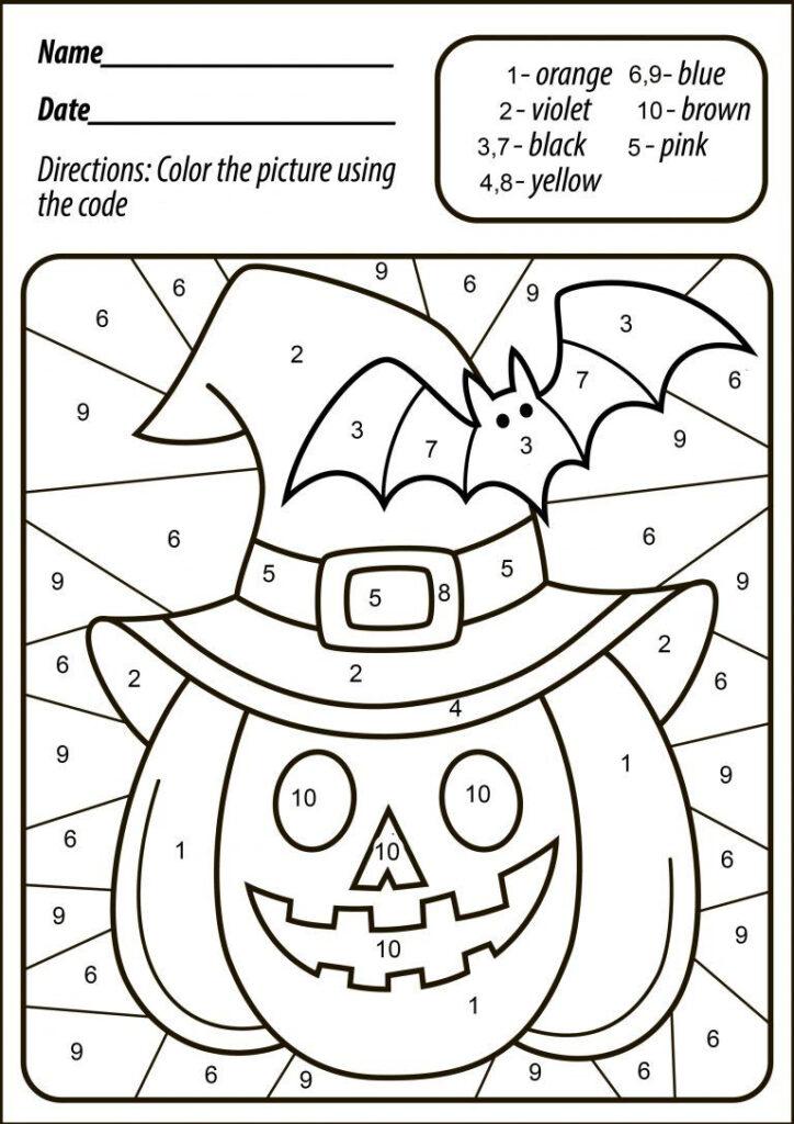 Halloween Pumpkin Color | Halloween Worksheets, Halloween