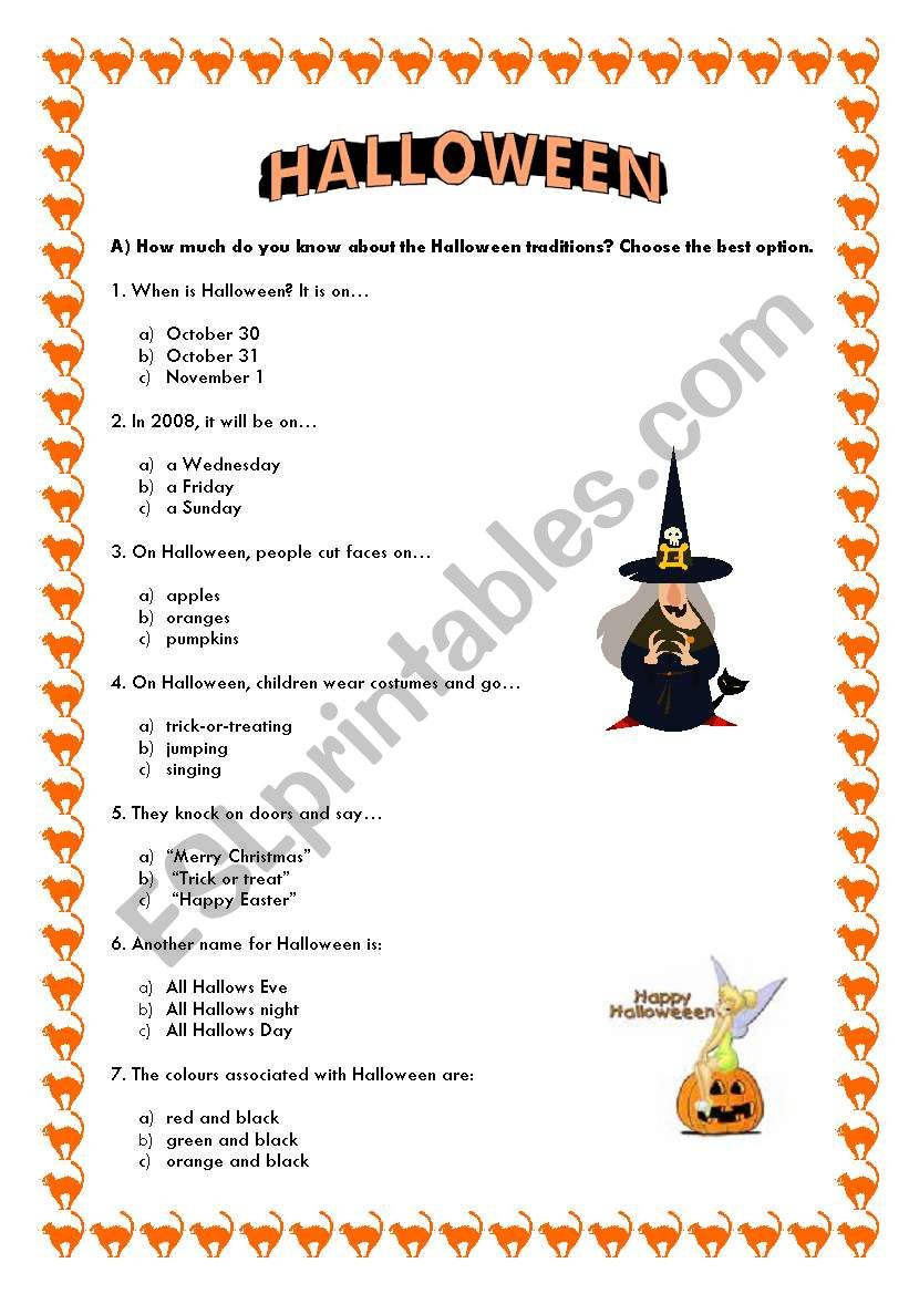Halloween Quiz - Esl Worksheetladybug