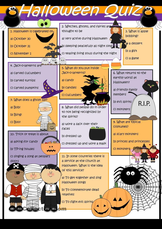 Halloween Quiz | Halloween Quiz, Halloween Elementary