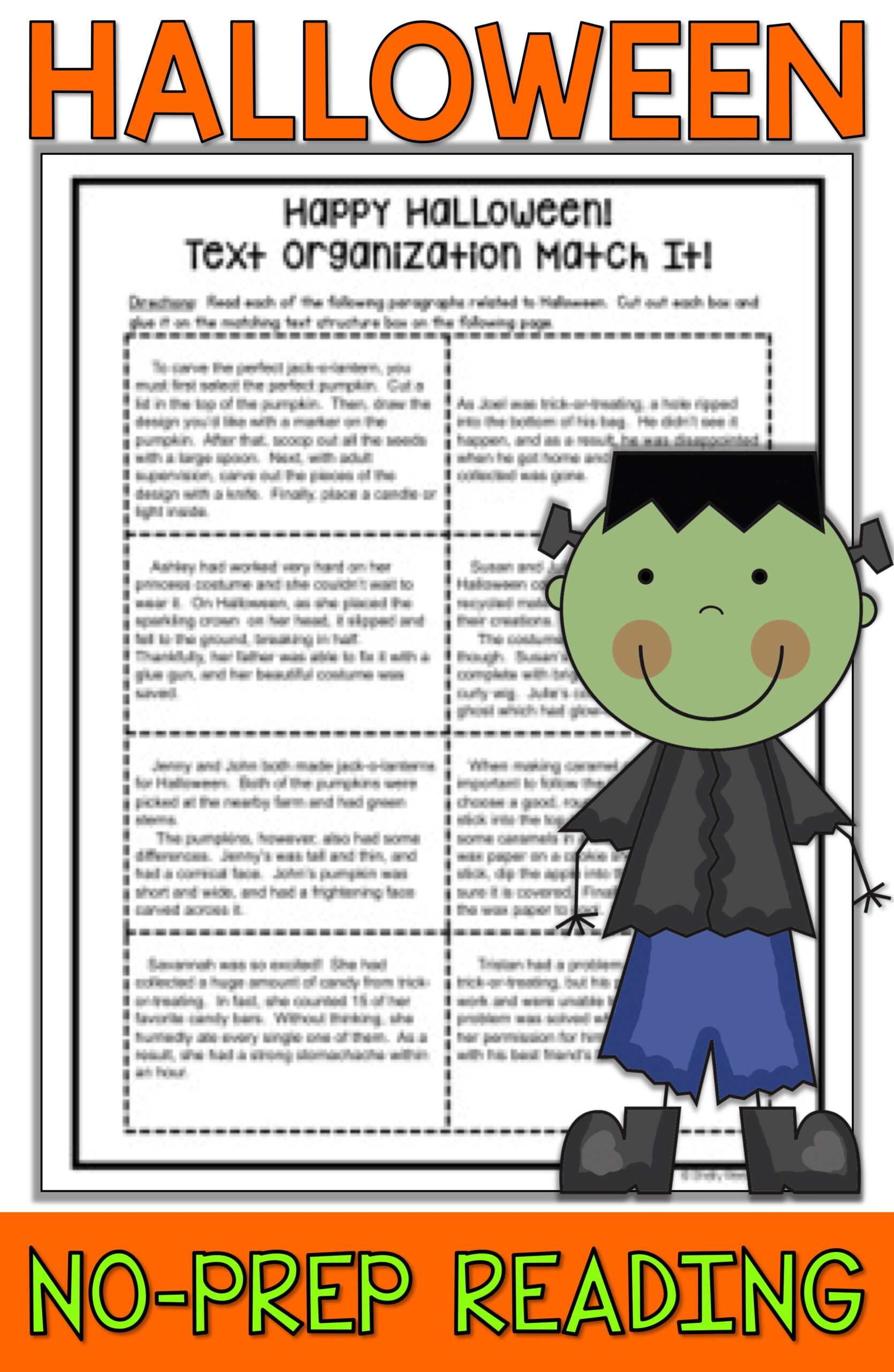 Halloween Reading Activities For 3Rd, 4Th Grade, 5Th, And